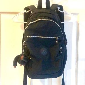 Kipling small backpack - navy blue